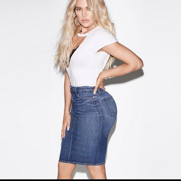 Good American Dresses & Skirts - Good American Denim Pencil Skirt
